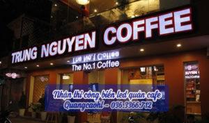 Thi công biển led quán cafe
